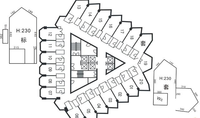 岷山饭店房间图-有尺寸.jpg