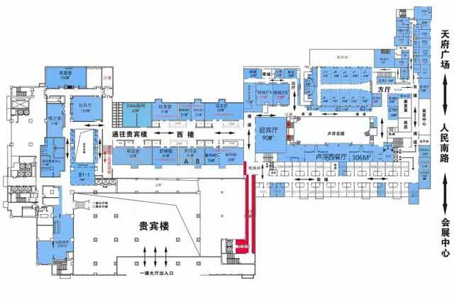 成都糖酒會錦江賓館2樓展位圖紙